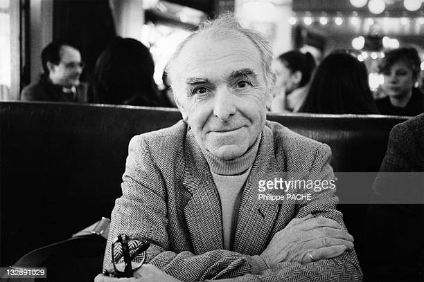 A portrait of photographer Robert Doisneau during February 1986 in Paris France