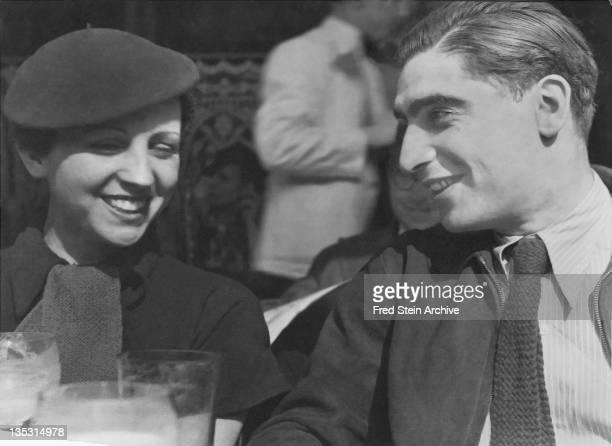 Portrait of photographers Gerda Taro and Robert Capa 1936