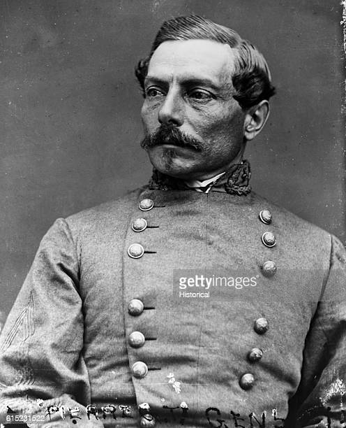 Portrait of Pierre Gustave Beauregard superintendant of West Point who joined the Confederate Army at the outbreak of the Civil War Beauregard was in...
