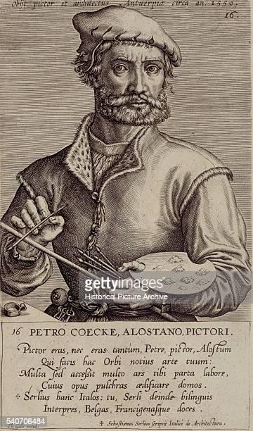 Portrait of Pieter Coecke van Aelst by Theodoor Galle