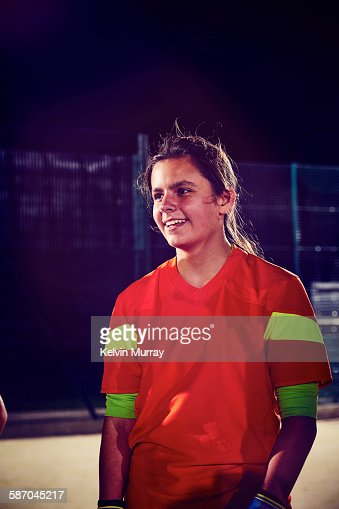 Portrait of player from women's football team