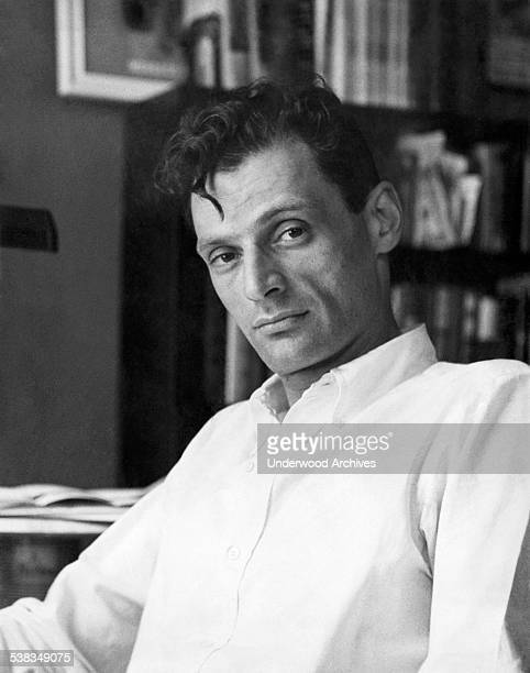 A portrait of playwright Arthur Miller who won the 1949 Pulitzer Prize for Drama for his play 'Death of a Salesman' New York New York May 1949