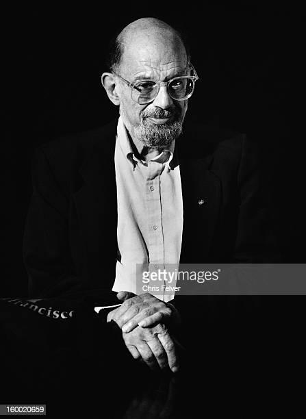 Portrait of poet Allen Ginsberg late twentieth century