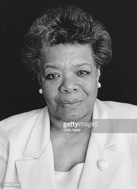 Portrait of poet and writer Maya Angelou 1984
