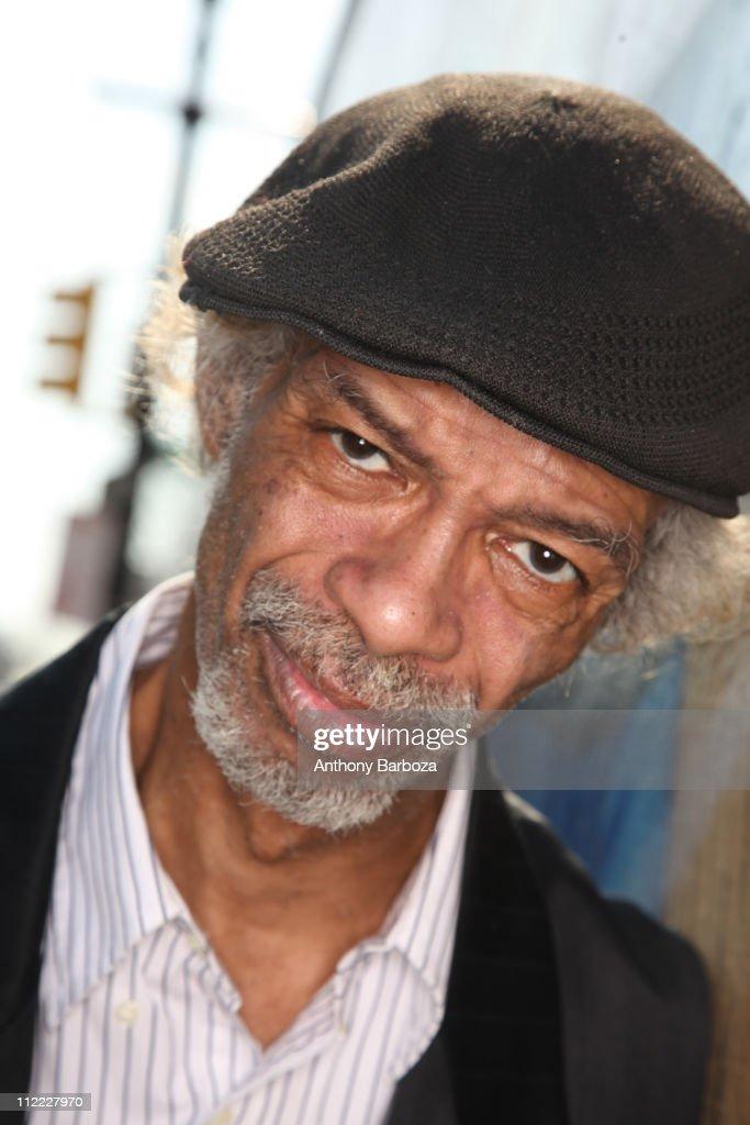 Portrait of poet, jazz musician, and spoken word performer Gil Scott Heron, posing in Harlem, New York, 2010.