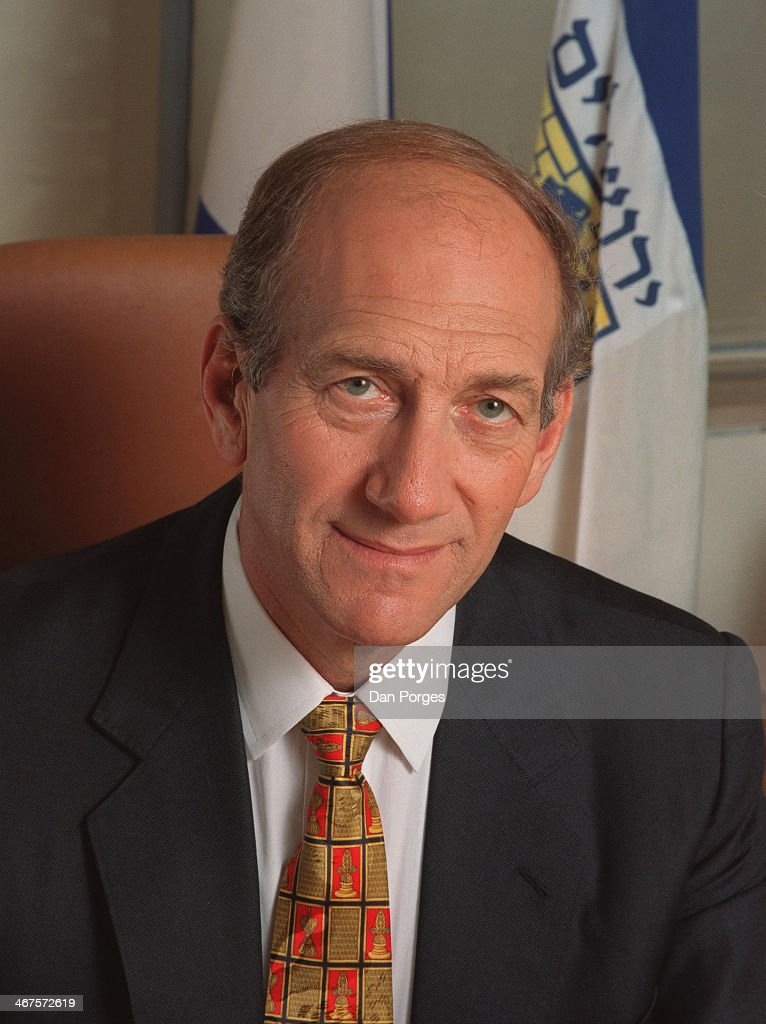 Portrait of politician and former Prime Minister of Israel <a gi-track='captionPersonalityLinkClicked' href=/galleries/search?phrase=Ehud+Olmert&family=editorial&specificpeople=178946 ng-click='$event.stopPropagation()'>Ehud Olmert</a>, Jerusalem, Israel, July 25, 2000.