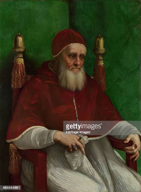 Portrait of Pope Julius II 1511 Found in the collection of the National Gallery London