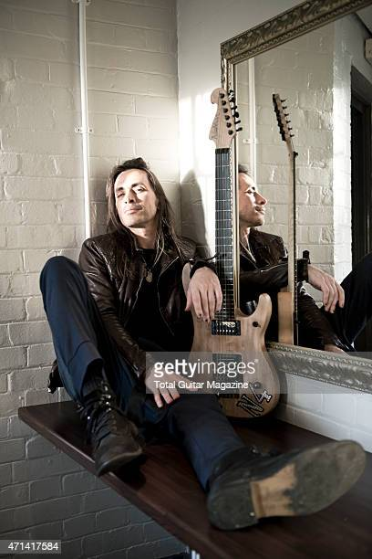 Portrait of PortugueseAmerican rock musician Nuno Bettencourt photographed before a live performance with Extreme at The Forum in London on July 9...