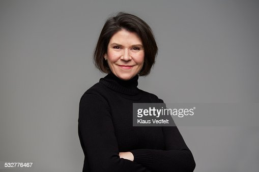 Portrait of powerful mature woman