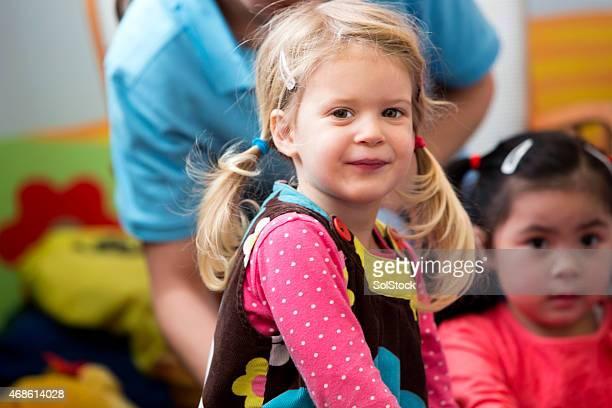 Porträt von Kinder kleines blonde Mädchen