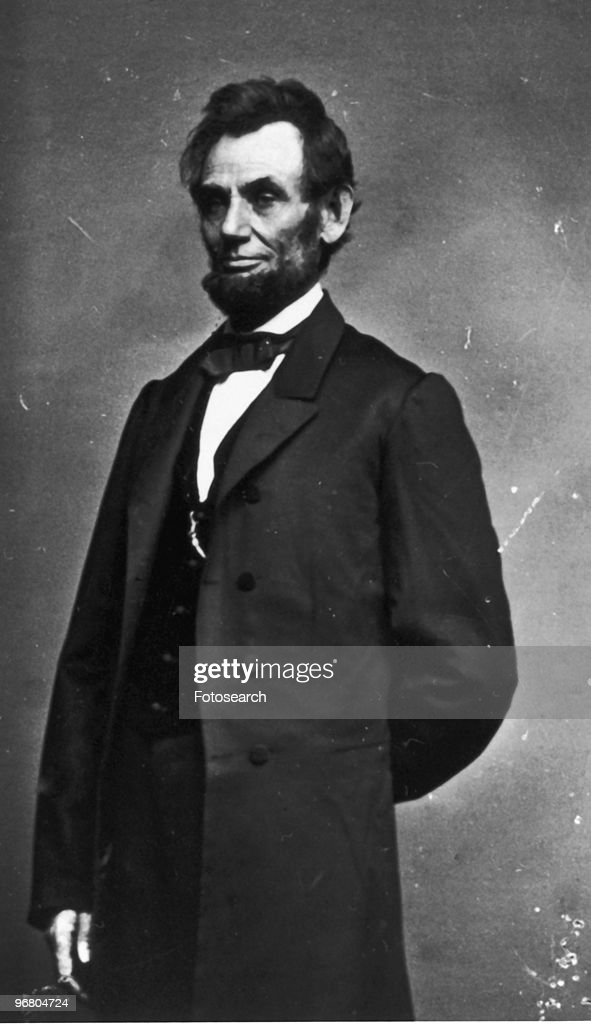 Portrait of President <a gi-track='captionPersonalityLinkClicked' href=/galleries/search?phrase=Abraham+Lincoln&family=editorial&specificpeople=67201 ng-click='$event.stopPropagation()'>Abraham Lincoln</a>, circa 1860s. (Photo by Fotosearch/Getty Images).