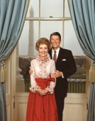 Portrait of President Ronald Reagan with First Lady Nancy Reagan taken in the White House 1984