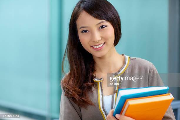 portrait of pretty college student