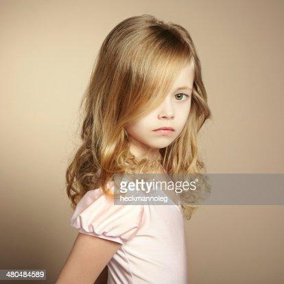 Portrait of pretty little girl : Stock Photo