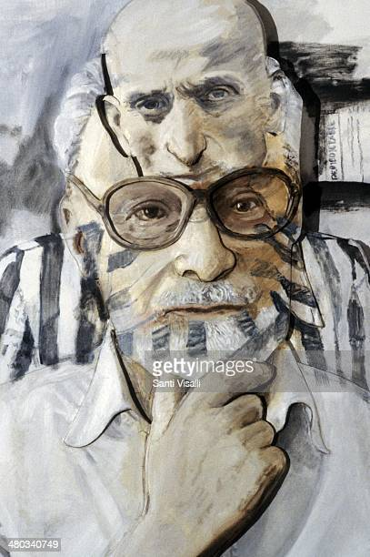 Portrait of Primo Levi by Larry Rivers on February 10 1988 in New York New York