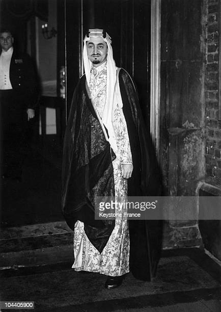 Portrait of Prince FAYSAL ibn ABD ALAZIZ of Saudi Arabia at Saint James' Palace in London to attend a banquet held by the UN on January 9 1946