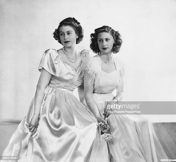 Portrait of Princess Elizabeth and her sister Princess Margaret December 11th 1946