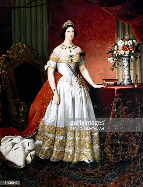 Portrait of Princess Maria Antonia of the Two Sicilies and Grand Duchess of Tuscany as the consort of Leopold II painting by Carlo Morelli 1842...