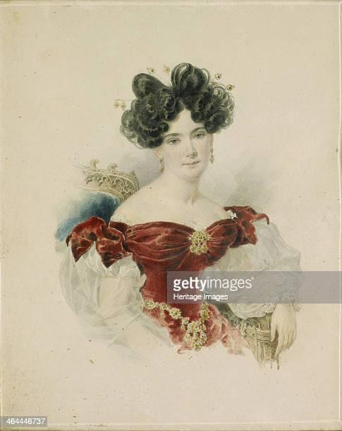 Portrait of Princess Natalia Viktorovna Kochubey née Kochubey 1830s Found in the collection of the State Tretyakov Gallery Moscow