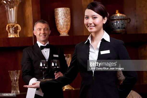 Portrait of professional service staff