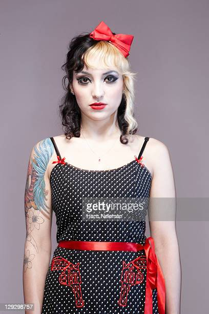 Portrait of psychobilly girl