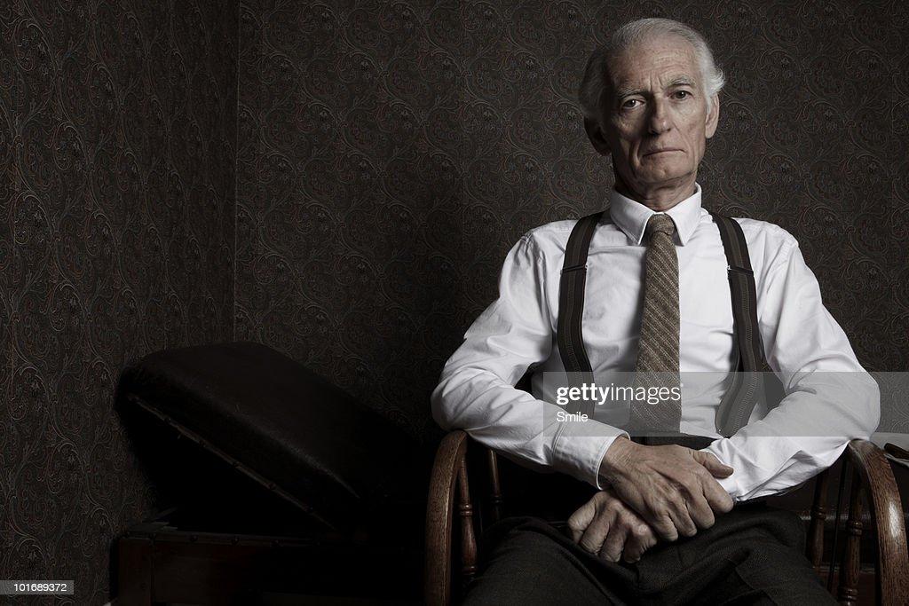 Portrait of psychologist in examining room : Stock Photo