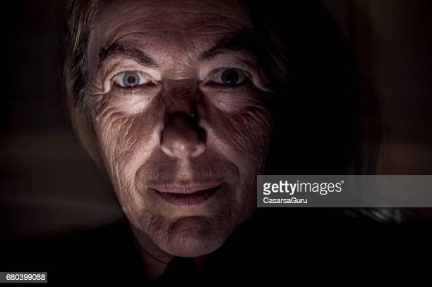 Portrait of Psychopath Woman