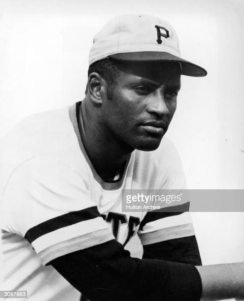 Portrait of Puerto Ricanborn baseball player Roberto Clemente in his Pittsburgh Pirates uniform 1970s
