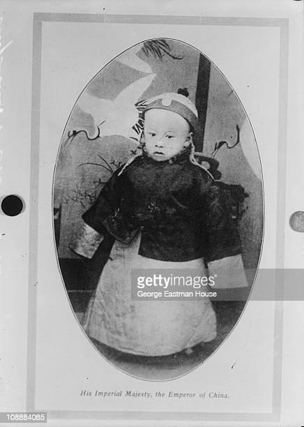 Portrait of Puyi future Emperor Xuantong of China Beijing China 1907
