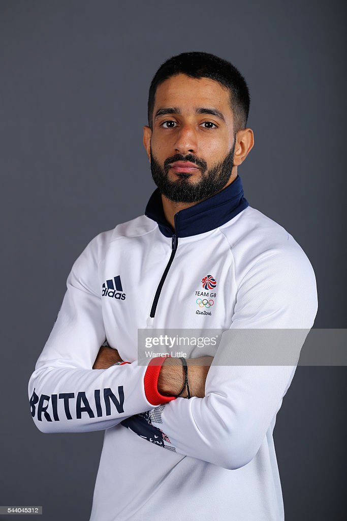 A portrait of Qais Ashfaq a member of the Great Britain Olympic team during the Team GB Kitting Out ahead of Rio 2016 Olympic Games on July 1, 2016 in Birmingham, England.