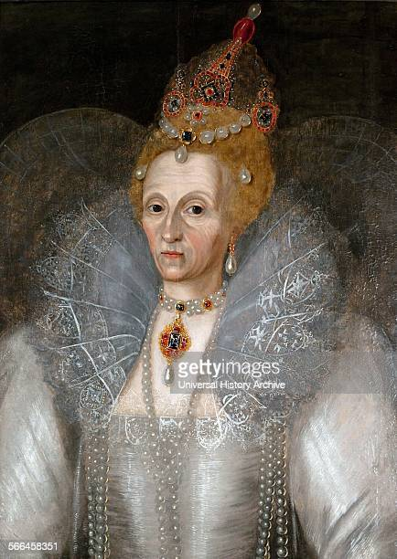 Portrait of Queen Elizabeth I Painted by Marcus Gheeraerts the Younger Dated 16th Century