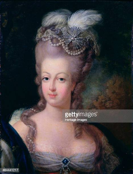 'Portrait of Queen Marie Antoinette of France' 1775 The daughter of Francis I and Maria Theresa of Austria Marie Antoinette married the French...