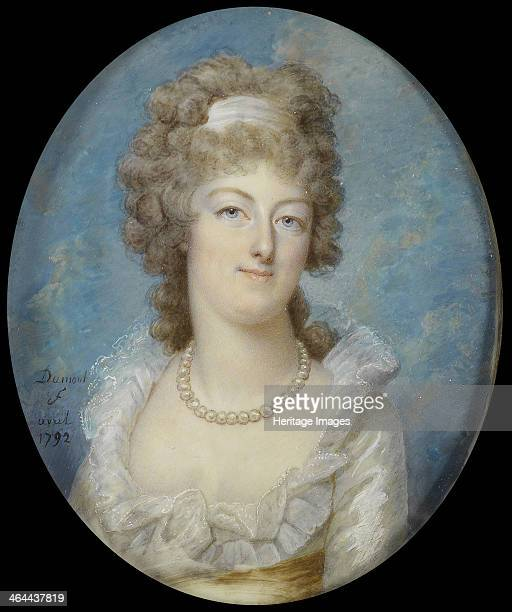 Portrait of Queen Marie Antoinette with a Pearl Necklace 1792 From a private collection