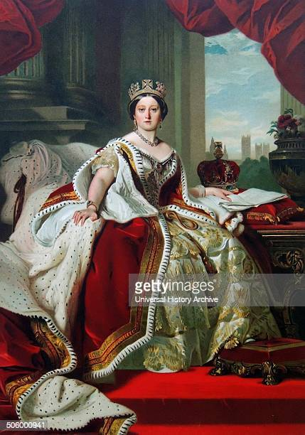 Portrait of Queen Victoria in her coronation robes and wearing the State Diadem Date circa 1870 Oil on canvas After Franz Xaver Winterhalter