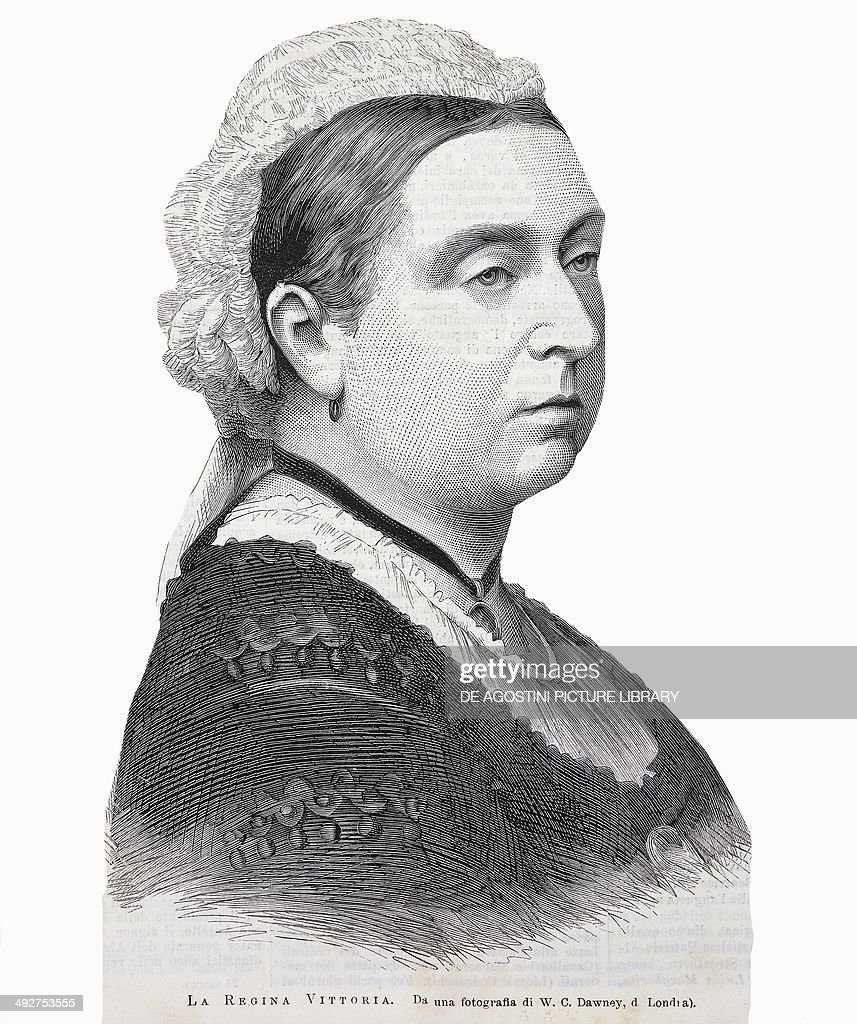 Portrait of Queen Victoria of the House of Hanover Queen of the United Kingdom and Empress of India from Italian illustration March 30 1879 Print...