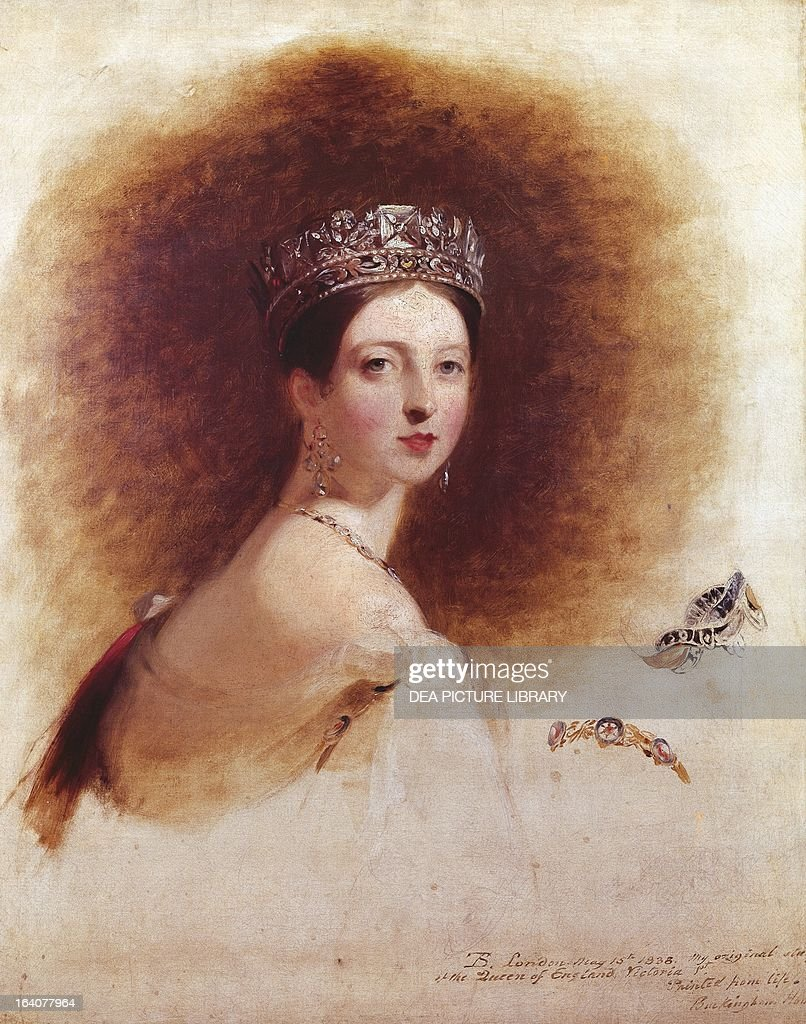 Portrait of Queen Victoria Queen of the United Kingdom painting by Thomas Sully oil on canvas 914 x715 cm New York The Metropolitan Museum Of Art