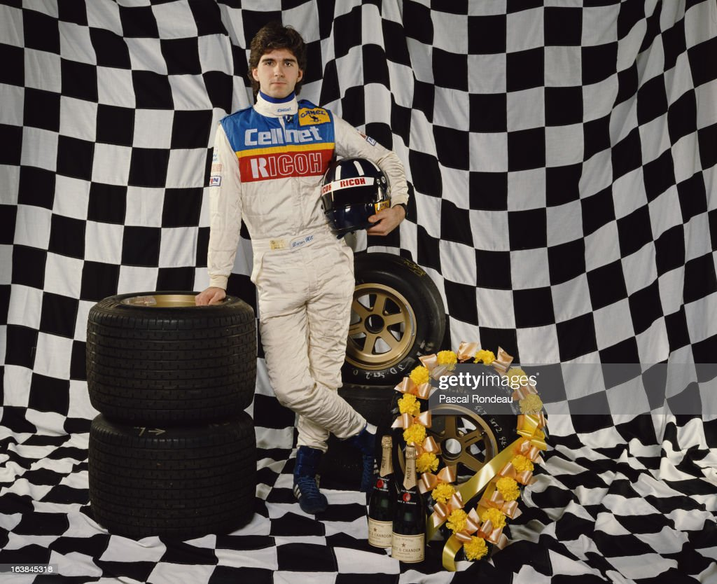 Portrait of racing driver <a gi-track='captionPersonalityLinkClicked' href=/galleries/search?phrase=Damon+Hill&family=editorial&specificpeople=195346 ng-click='$event.stopPropagation()'>Damon Hill</a>, son of former Formula One World Champion Graham Hill on 1 May 1988 in London, United Kingdom.