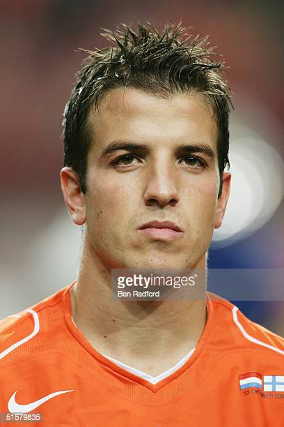 A portrait of Rafael van der Vaart of Holland prior to the Group 1 2006 World Cup Qualifying match between Holland and Finland on October 13 2004 at...