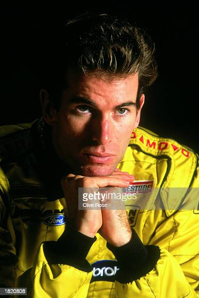 A portrait of Ralph Firman Formula One driver for JordanFord posing for the camera during Formula One winter testing held on February 3 2003 in...