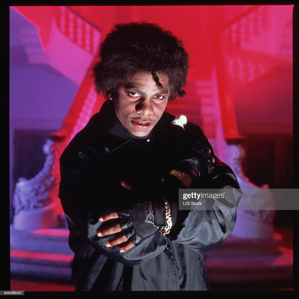 Portrait of rapper Eazy-E of the rap group, NWA.