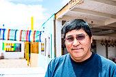Portrait of real Navajo man