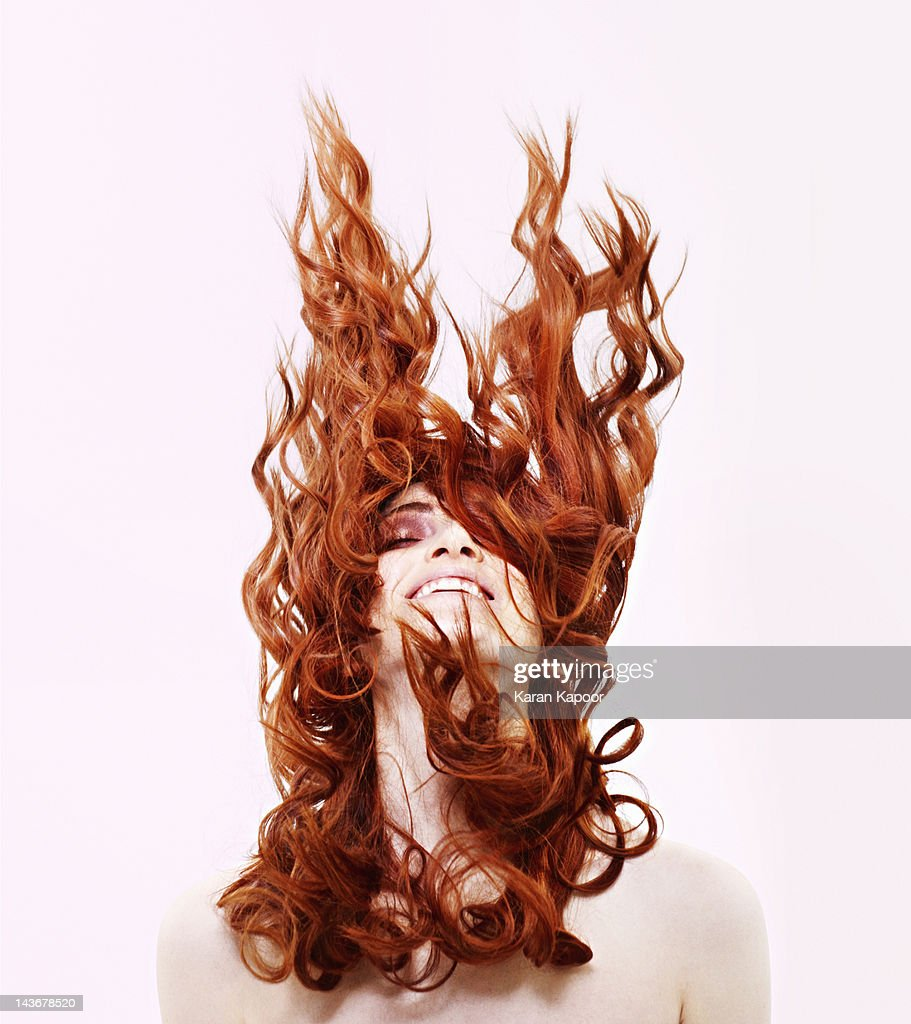 Portrait of Red Hair girl : Stock Photo