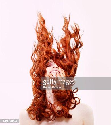 Portrait of Red Hair girl