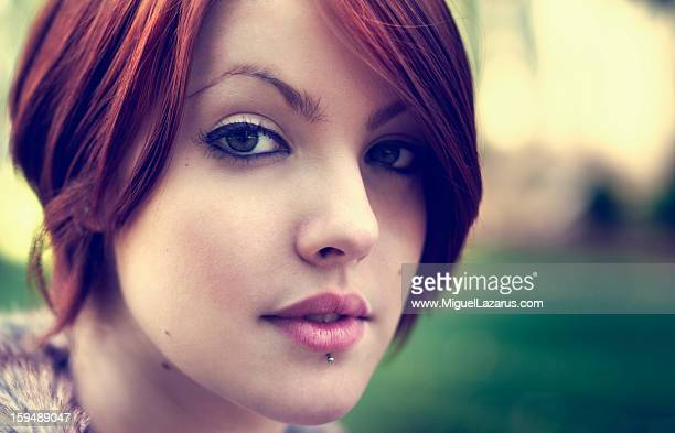 Portrait of red head woman