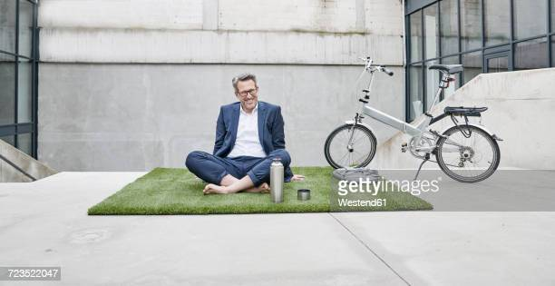 Portrait of relaxed businessman