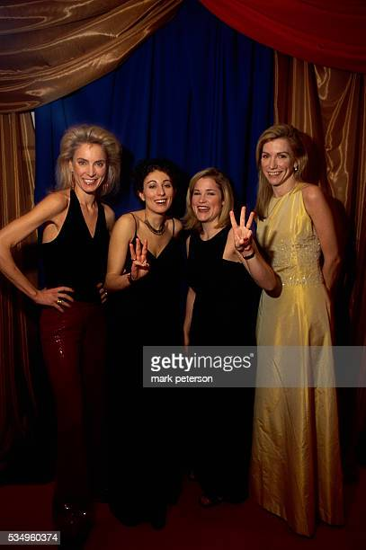 Portrait of republican women at a formal event in Washington DC From left to right Heidi Nelson Margo McGinnis Jennifer Grossman and Education Policy...