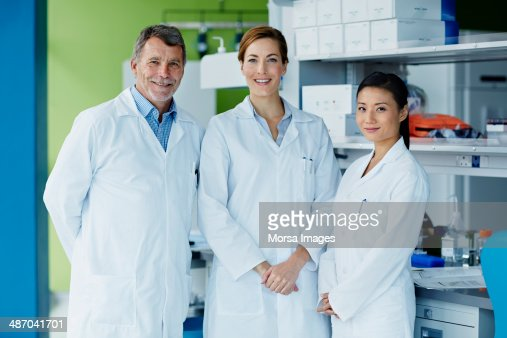 Portrait of research team : Stock Photo