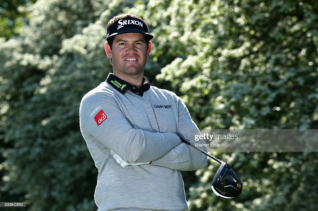 A portrait of Ricardo Gouveia of Portugal ahead of the BMW PGA Championship at Wentworth Golf Club on May 24, 2016 in Virginia Water, England.