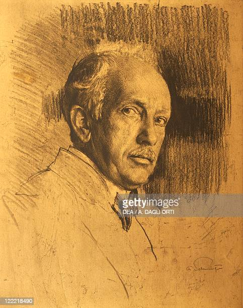 Portrait of Richard Strauss German composer and conductor Drawing pencil sketch