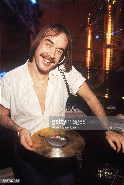 Portrait of Ritchie Kaczor as he poses in the DJ booth at Studio 54 New York New York May 3 1979